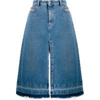 Diesel Saia Jeans Midi - Azul