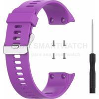 Pulseira De Silicone Tudo Smartwatch Para Garmin Forerunner 35 Roxo