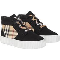 Burberry Kids Vintage Check Hi-Top Sneakers - Preto