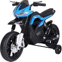 Moto Elétrica Bel Brink Big Trail Com Música 6V Azul