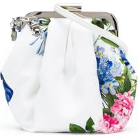 Monnalisa Bolsa Com Estampa Floral - Branco