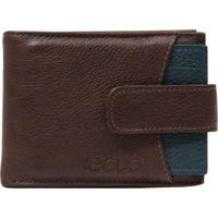 Carteira Em Couro Recuo Fashion Bag Castor/Verde