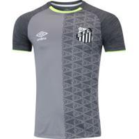 b868e02544 Camisa Do Santos Aquecimento 2018 Umbro - Masculina - Cinza Esc Cinza
