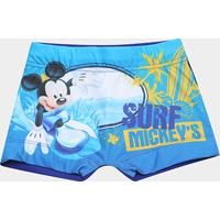 Sunga Infantil Tip Top Mickey - Masculino-Azul Royal