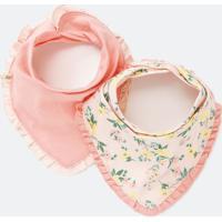 Kit Babador Infantil Estampa Floral - Tam U