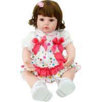 Boneca Laura Baby Manuela - Castanho Claro & Castanho