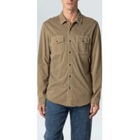 Camisa Army Pockets-Caqui - P
