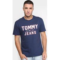 Camiseta Tommy Jeans Logo Retrô Masculina - Masculino