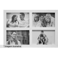 Painel Para 4 Fotos- Branco- 27X35,5X2Cm- Kaposkapos