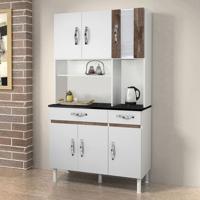 Cozinha Compacta Ventura 6 Pt 2 Gv Branco E Chocolate