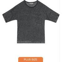 Blusa Plus Size De Molecotton Cinza