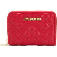 Love Moschino Logo Quilted Wallet - Vermelho