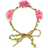 Piccola Ludo Hairband Com Detalhe Floral - Rosa