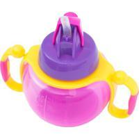 Copo Treinamento Com Canudo- Pink & Amarelo- 200Ml