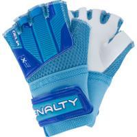 Luvas De Goleiro Futsal Penalty Delta Training Indoor - Juvenil - Azul/Branco