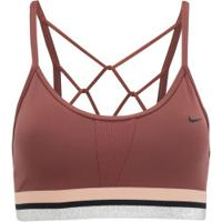 Top Fitness Com Bojo Nike Glam Dk Indy Bra - Adulto - Vinho