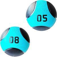 Kit 2 Medicine Ball Liveup Pro 5 E 8 Kg Bola De Peso Treino Funcional - Unissex