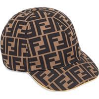Fendi Kids Boné Com Logo 'Ff' - Marrom