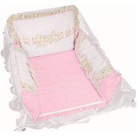 Berço Portátil Padroeira Baby Provence Rosa