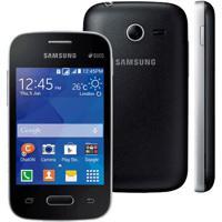 "Smartphone Samsung Galaxy Pocket 2 Duos Sm-G110B - Preto - 4Gb - Dual-Chip - 3G - 2Mp - Tela 3.3"" - Android 4.4"