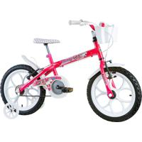 Bicicleta Aro 16 Monny Com Cesta Pinky-Neon Track & Bikes