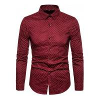 Camisa Masculina Social Slim Mackay - Vermelha