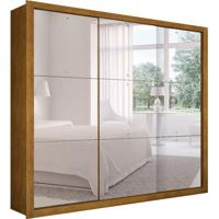 Guarda-Roupa Casal Com Espelho Veneza Gold Imbuia 3 Pt 4 Gv