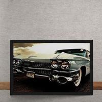 Quadro Decorativo Carro Cadillac Eldorado Verde 25X35