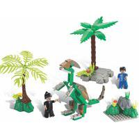 Blocos De Encaixe Xalingo Dino Saga Operaçáo Oviraptor Dinossauros 112 Peças 6576 Verde