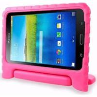 "Capa Maleta Infantil Para Tablet Samsung Galaxy Tab3 7"" Sm-T110 T111 T113 T116 Rosa Escuro"