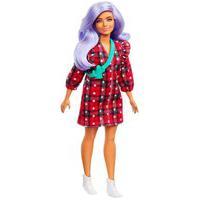 Barbie Fashionistas Vestido Xadrez E Cabelo Lilás - Mattel