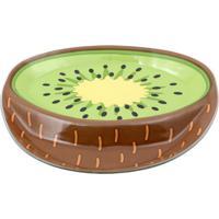 Petisqueira Com Molheira Kiwi- Marrom & Verde- 2X30Xdecor Glass