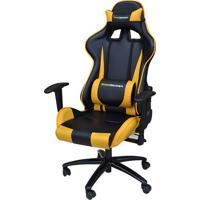 Cadeira Office Pro Gamer V2 Em Pu Preta E Amarela - 36690 Sun House