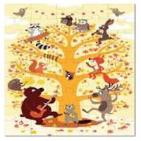 Quebra Cabeca Na Maletinha Animais Da Floresta Krooom