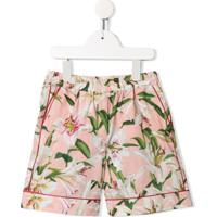 Dolce & Gabbana Kids Short Com Estampa De Lírio - Rosa