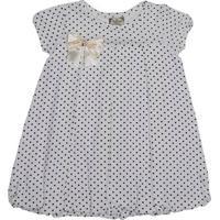 Vestido Infantil Para Menina - Off White