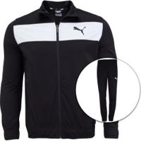 Agasalho Puma Techstripe Tricot Suit Cl - Masculino - Preto