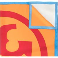 Tory Burch Echarpe Color Block - Azul