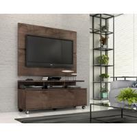 "Rack Com Painel Home Buzios 1,2 M Para Tv 48"" Marrom - Marrom - Dafiti"