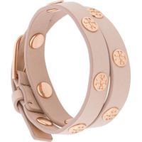 Tory Burch Double-Wrap Logo Stud Bracelet - Rosa