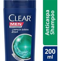Shampoo Anticaspa Clear Men Limpeza Diária 2 Em 1 200Ml