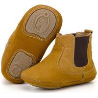 Botina Infantil Em Couro Capelli Boots Castanho