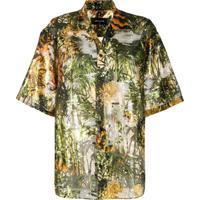 Dsquared2 Camisa Com Estampa - Verde