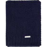 Manta Cobertor De Berço Infantil Tamine Tricô Luxo - Unissex-Marinho