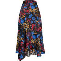 Peter Pilotto Floral Silk Midi Skirt - Estampado