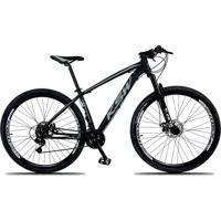 Bicicleta Xlt Aro 29 Freio A Disco Suspensão 21 Marchas Quadro 15 Alumínio Preto Cinza - Ksw