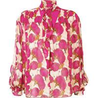 Pinko Blusa Com Estampa Floral - Rosa