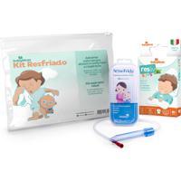 Kit Resfriado Babydeas - 1 Aspirador Nasal Nosefrida + 1 Adesivo Resliv