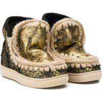 Mou Kids Metallic Snow Boots - Dourado