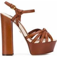 Dolce & Gabbana Sandália Plataforma Com Alças Cruzadas - Marrom